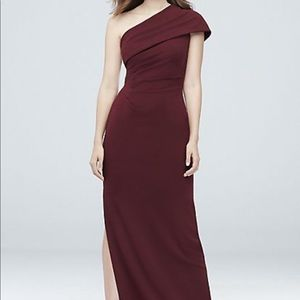 Sangria-wine colored Bridesmaid Dress